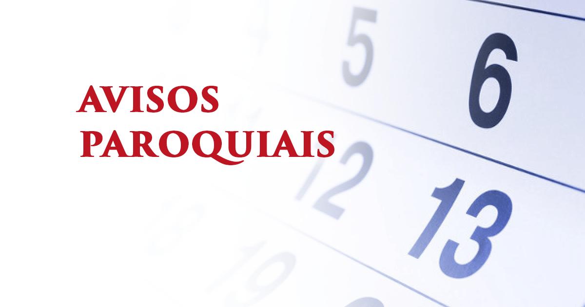 Avisos paroquiais Paroquia Sao Jorge Curitiba